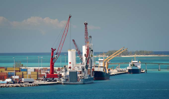 Bahamas the port of Nassau: